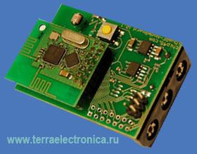 IDWARF-NODEBOARD - плата с системой датчиков и отсеком для батареек для подлкючения к модулю приёмопередатчика IDWARF-168