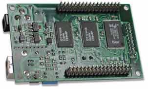 Макетная плата на базе микроконтроллера LPC2294 (вид снизу)