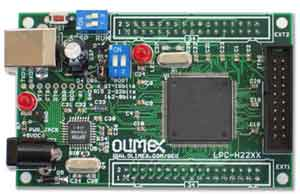 Макетная плата LPC-H2214 от OLIMEX (вид сверху)
