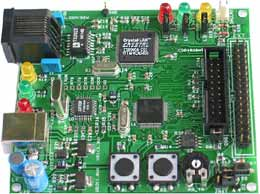 Отладочная платформа с ETHERNET интерфейсом для LPC2124 микроконтроллера