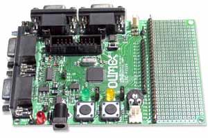 Плата для разработки на базе микроконтроллера LPC2129