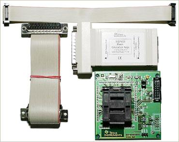 Плата для разработки на  микроконтроллерах MSP430F412/413