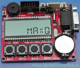 Плата для разработки систем MAXQ-2000STK