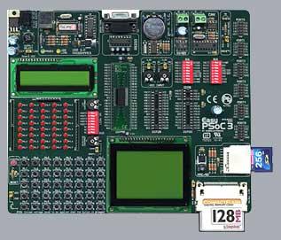Отладочная плата для разработки и отладки приложений на базе PSoC фирмы Cypress.