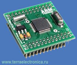 MMLPC2138-0-2 – миниатюрный модуль с установленным 32-разрядным ARM микроконтроллером LPC2138 PHILIPS