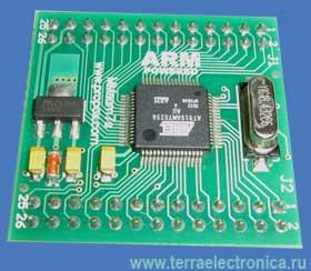 MMSAM7S256-2 – миниатюрный модуль с установленным 32-разрядным ARM микроконтроллером AT91SAM7S256
