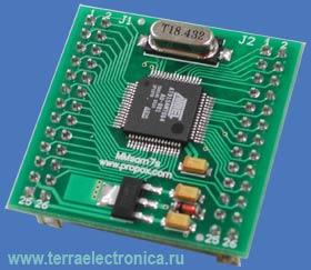 MMSAM7S64-0 – миниатюрный модуль с установленным 32-разрядным ARM микроконтроллером T91SAM7S64