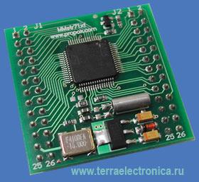 MMSTR711F-2-0-2 – миниатюрный модуль с установленным 32-разрядным ARM микроконтроллером STR71xF