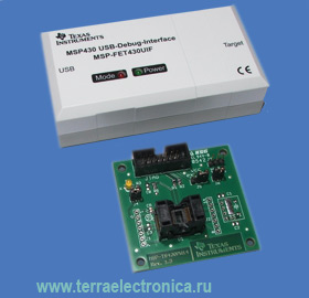 MSP-FET430U14 � ��������� ����� ��� ���������������� � ������� ������ �� ����������������� ����� MSP430F20xx