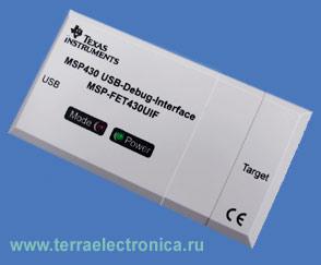 USB-JTAG адаптер MSP-FET430UIF для программирования и отладки микроконтроллеров семейства MSP430 через JTAG интерфейс