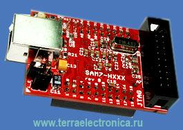 SAM7-H256 - отладочная плата фирмы OLIMEX для микроконтроллера AT91SAM7S256 ARM7TDMI-S