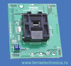 SFB-SKT280PZ100 – адаптер для программирования процессоров TMS320F2808, TMS320F2806, TMS320F2801 в корпусах TQFP-100
