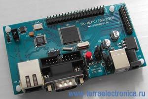 SK-MLPC2368 – отладочная плата на базе ARM7-микроконтроллера LPC2368 фирмы NXP