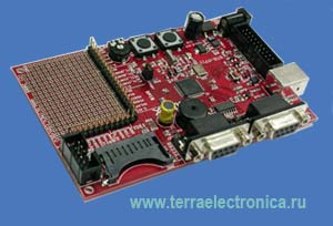 Отладочная плата фирмы OLIMEX для микроконтроллера STR711FR2T6