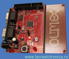 STR-P712 - отладочная плата фирмы Olimex для микроконтроллера STR712FR2T6 ARM7TDMI-S