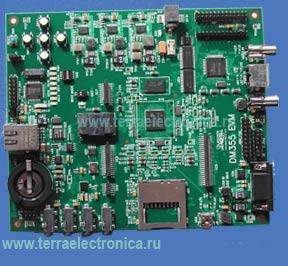 TMDSEVM355 PBF – набор аппаратных и программных средств от Texas Instruments для разработки мультимедийных систем на базе DSP TMS320DM355 семейства DaVinci