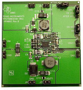 TPS75003EVM-092 –оценочный модуль для многоканальной ИМС управления питанием TPS75003 производства TEXAS INSTRUMENTS