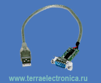UС232R – интерфейсный кабель с преобразованием интерфейсов USB и RS232