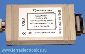 Быстрый JTAG / BSL адаптер с подключением по USB интерфейсу USB-MSP430-FPA-GANG