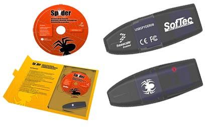 USBSPYDER08 – оценочный комплект формата USB-Stick со встроенным USB-BDM отладчиком