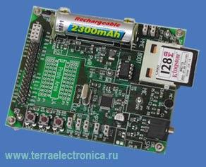 VS1002D-PROTO – макетная плата с установленным кодеком VS1002 компании  VLSI