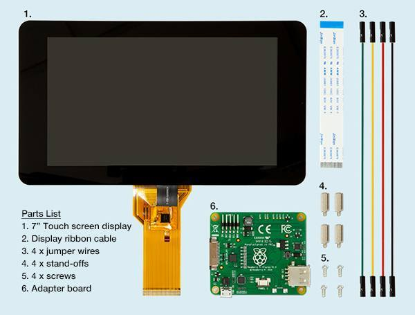 Raspberry Pi 7 Touchscreen Display Raspberry купить по