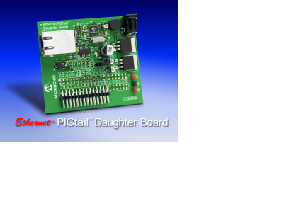 Демоплата  The Ethernet PICtail™ Daughter Board provides a cost-effective method of evaluating and developing Ethernet control applications. The board is designed for flexibility and can be plugged into a wide selection of demonstration boards, including the P