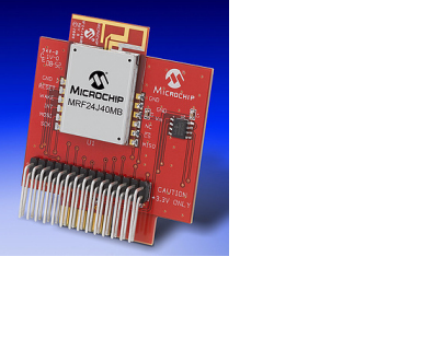 Демоплата  The MRF24J40MB PICtail™/PICtail Plus Daughter Board is a demonstration and development daughter board for the MRF24J40MB IEEE 802.15.4, 2.4 GHz RF Transceiver module. The daughter board can plug into multiple Microchip Technology demonstration and d