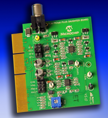 Демоплата  The Power-Line Modem (PLM) PICtail™ Plus Daughter Board provides communication over power-lines using a Binary Phase Shift Keying (BPSK) modulation scheme. These boards interface to the popular Explorer 16 Development Board and operate in the CENELE