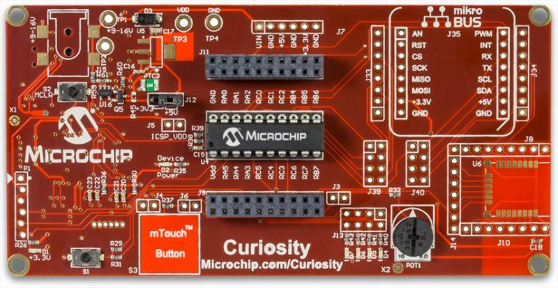Демоплата  Satisfy Your Curiosity Your next embedded design idea has a new home. Curiosity is a cost-effective, fully integrated 8-bit development platform targeted at first-time users, Makers, and those seeking a feature-rich rapid prototyping board. Designed from