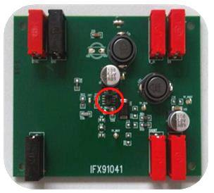 Демоплата  Demoboard for indutrial step-down DC/DC converter with integrated MOSFET and 1.8A current capability