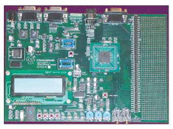 Демоплата  The dsPICDEM 1.1 Plus General Purpose development board provides the application designer with a low cost development tool to become familiar with the dsPIC30F/33F and PIC24H 16-bit architecture, high performance peripherals and powerful instruction set.