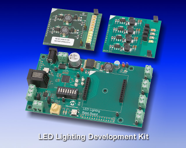 Демоплата  LED lighting designers are being challenged to meet the rapidly expanding demand for green, smart energy technologies while differentiating their products. Microchip's Digital LED Lighting Development Kit (DM330014) enables designers to quickly leve