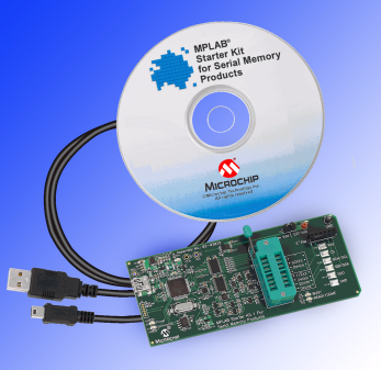 Демоплата  Designers of Serial EEPROM applications can enjoy the increased productivity, reduced time to market and rock-solid design that only a well thought out development system can provide. Microchip's MPLAB® Starter Kit for Serial Memory Products includes