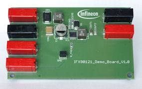 Демоплата  Demoboard for industrial step-down DCDC controller with built in MOSFET for output currents up to 500 mA