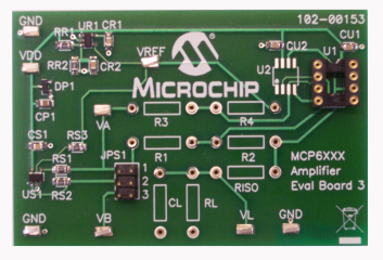 Демоплата  The MCP6XXX Amplifier Evaluation Board 3 is designed to support the difference amplifier circuits which are generated by the Mindi™ Amplifier Designer.