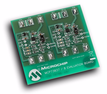 Демоплата  The MCP73837/8 AC/USB Dual Input Battery Charger Evaluation Board demonstrates Microchip's stand-alone Linear Li-Ion Battery Chargers - MCP73837 and MCP73838. The MCP73837/8 require only minimum components to implement a complete battery charge management