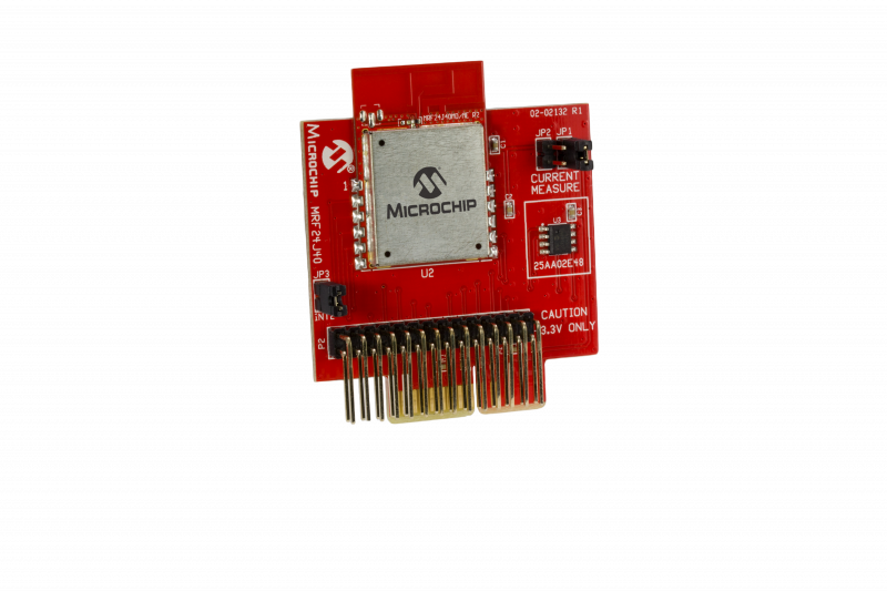 Демоплата  The MRF24J40MD PICtail™/PICtail Plus Daughter Board is a demonstration and development daughter board for the MRF24J40MD IEEE 802.15.4, 2.4 GHz RF Transceiver module. The daughter board can plug into multiple Microchip Technology demonstration and d