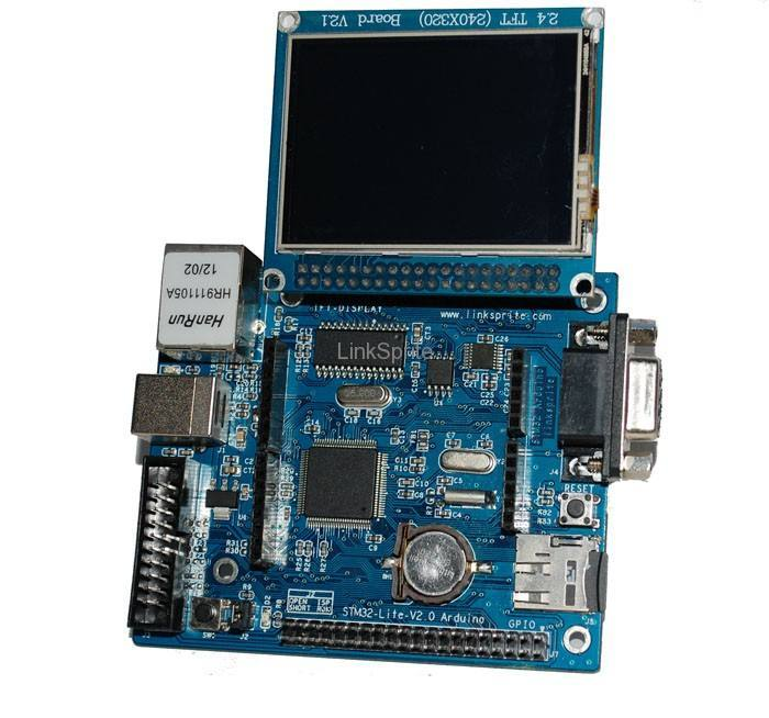Spruce - STM32 Arduino with with 2 8'' Touch LCD Shield
