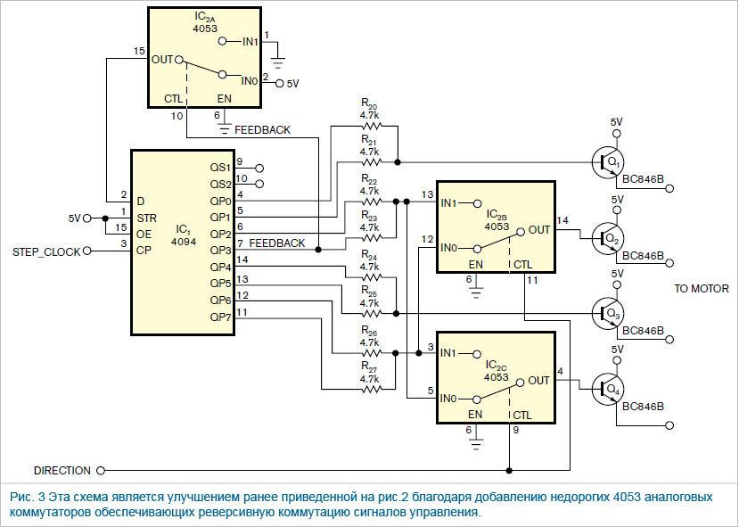 Управление шаговым двигателем через usb с компьютера