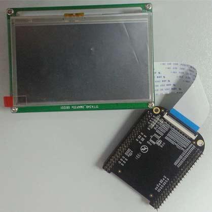 Дисплейный модуль BBView-43 для подключения к миникомпьютеру BeagleBone-Black