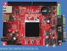 LPC-2378STK – отладочная плата фирмы Olimex для микроконтроллера LPC2378 ARM7TDMI-S