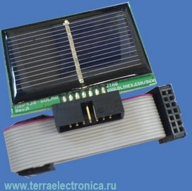 MSP430-SOLAR - солнечная батарея для совместной работы с отладочными и демонстрационными платами