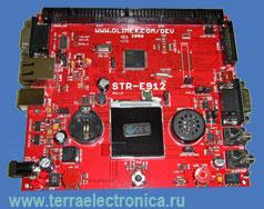 STR-E912 – отладочная плата позволяет разрабатывать и тестировать ПО для микроконтроллеров серии STR91x от STMICROELECTRONICS