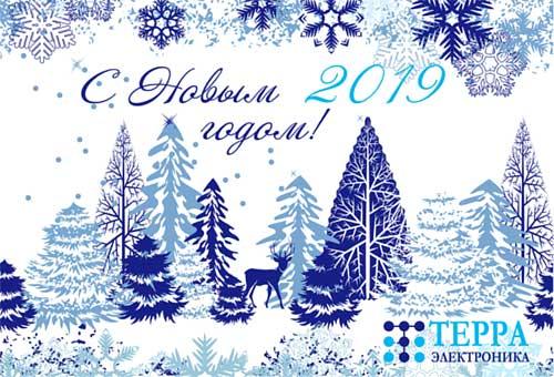 Поздравляем вас с наступающим 2019 годом!