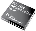 новые беспроводные решения CC112x Performance Line