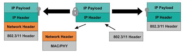 Маршрутизация пакетов в IP-сеть при наличии поддержки IP-протокола