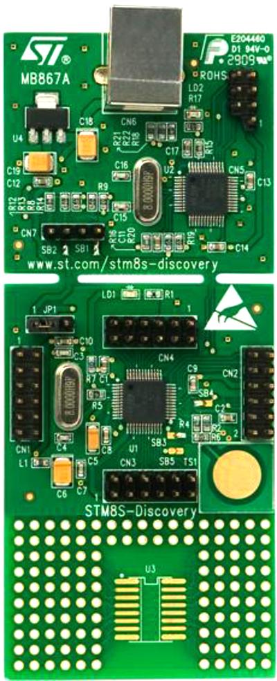 Плата STM8S-DISCOVERY с микроконтроллером STM8S105C6T6