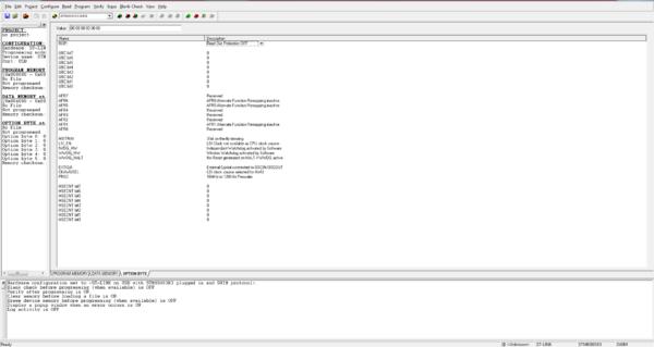Настройка опциональных битов с помощью ST Visual Programmer