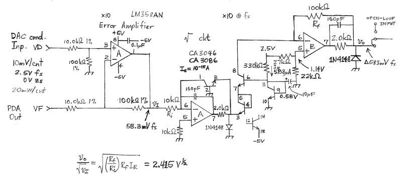 Упрощенная схема узла управления лампой накачки